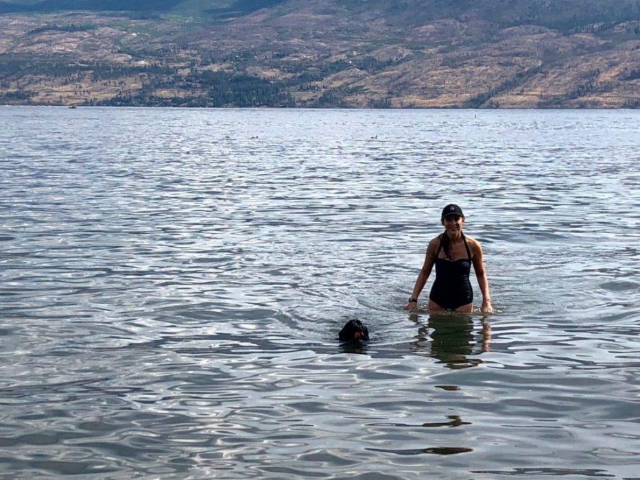 teaching Lando to swim