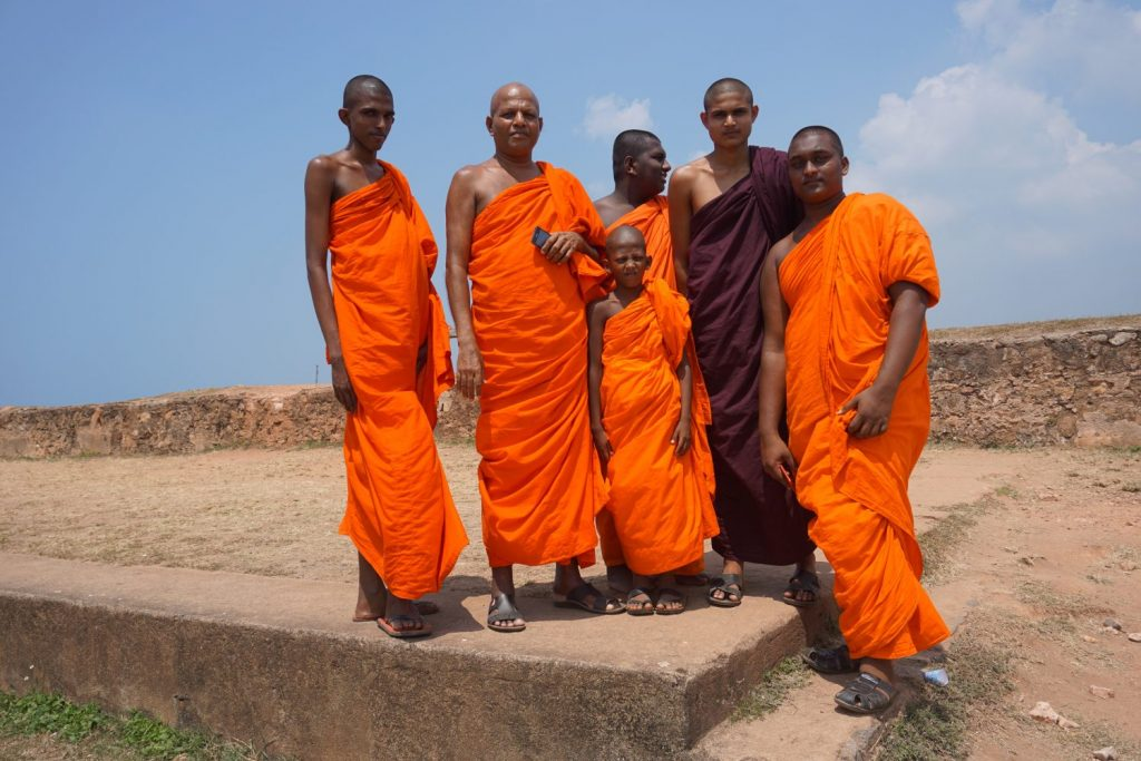 monks at Galle fort