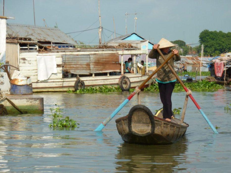 working the oars