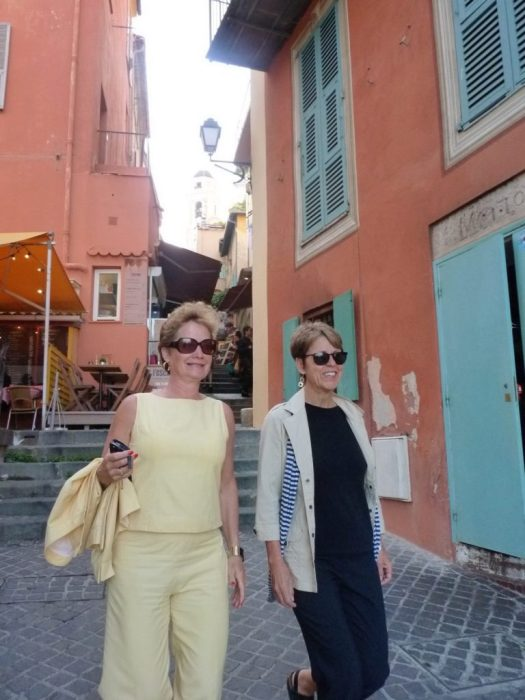 with Sharon in Villefranche