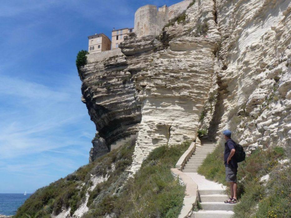 limestone city on limestone cliffs