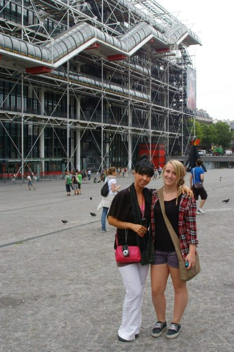 outside the Centre Pompidou