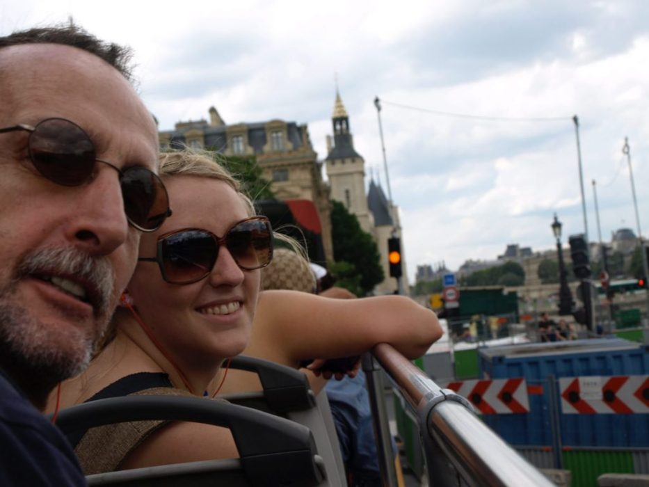 on the sightseeing bus