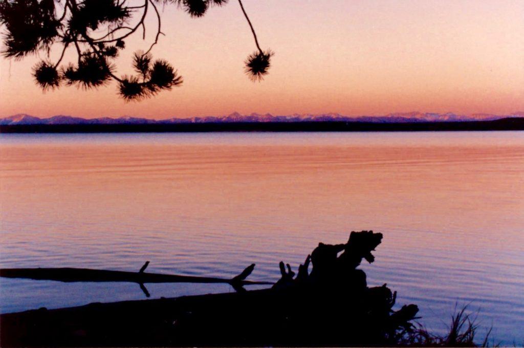 sunrise on Lake Yellowstone