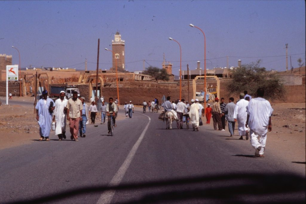 the road into Ouarzazate