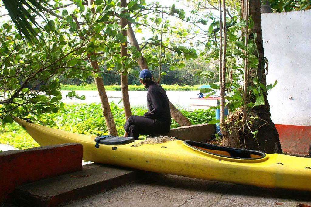 waiting to go kayaking