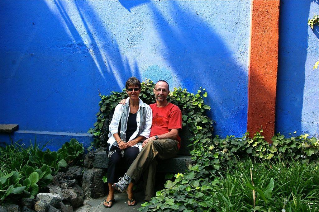 at Frida Khalo's house