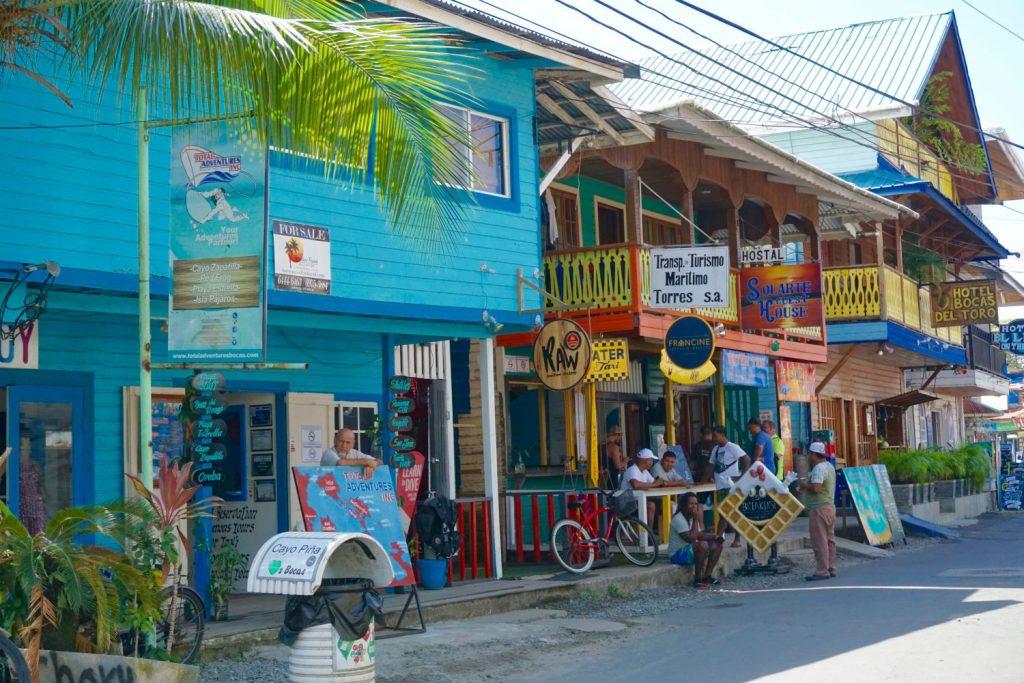 Bocas town main drag