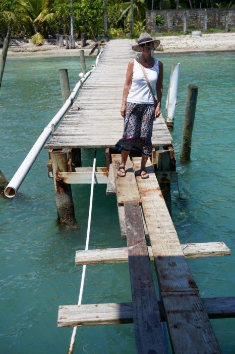 the dock needs work!