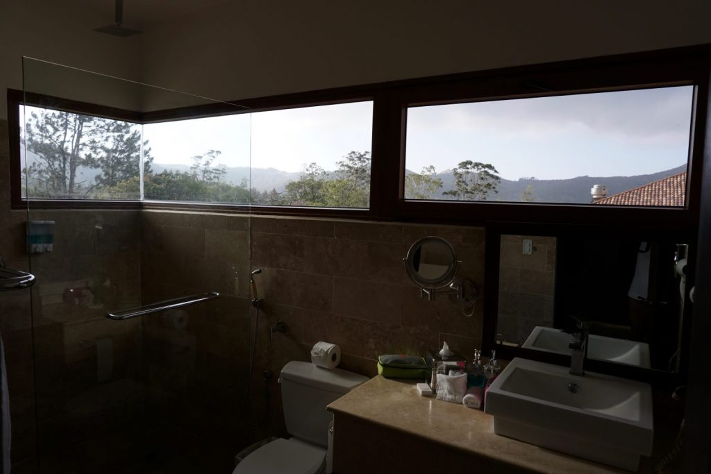 bathroom view of the caldera