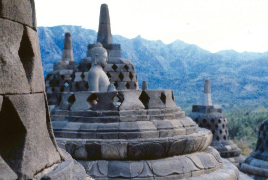 Buddha in a stupa