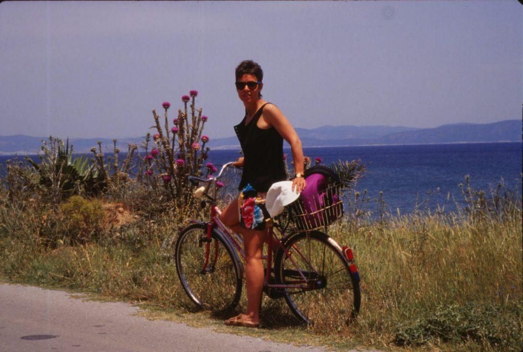 biking on Paros