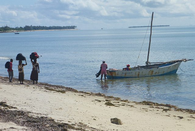 by boat to Ibo Island