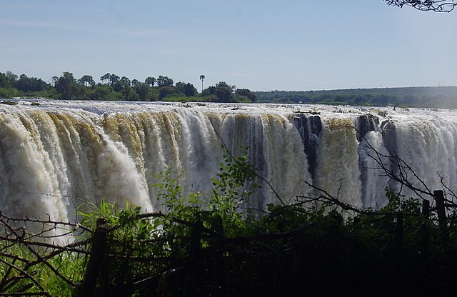 a small section of the falls