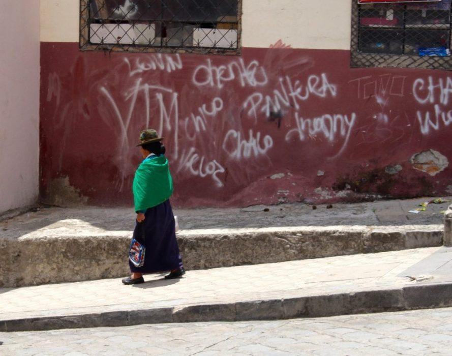 Craig deplores the graffiti