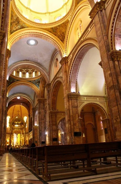 .inside the new cathedral