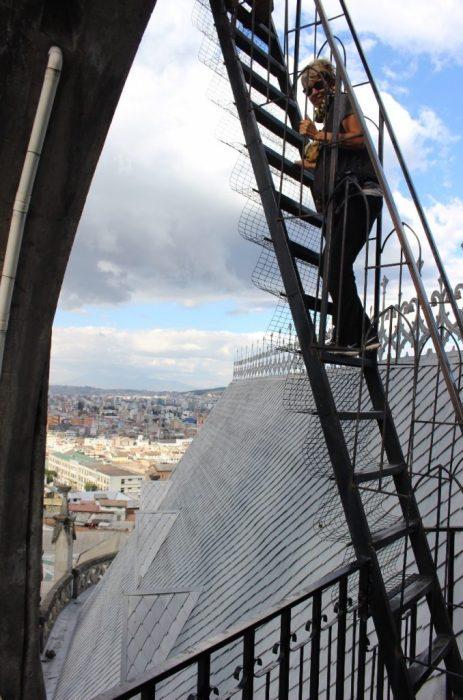 climbing the basilica tower
