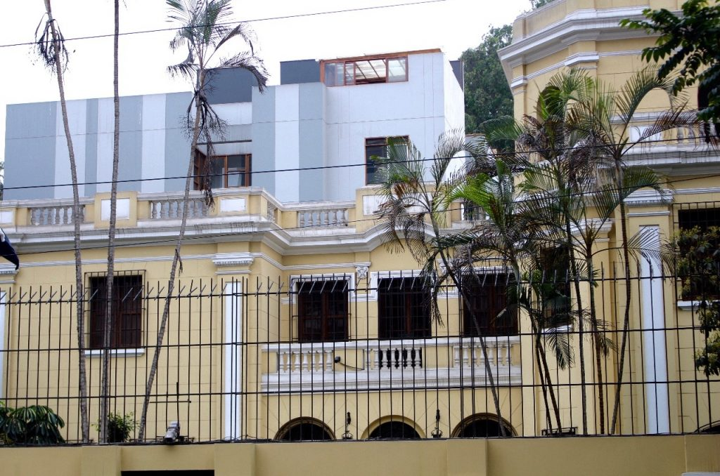 colonial and modern architecture juxtaposed