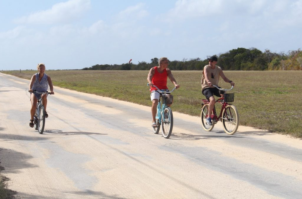 biking on Little Cayman