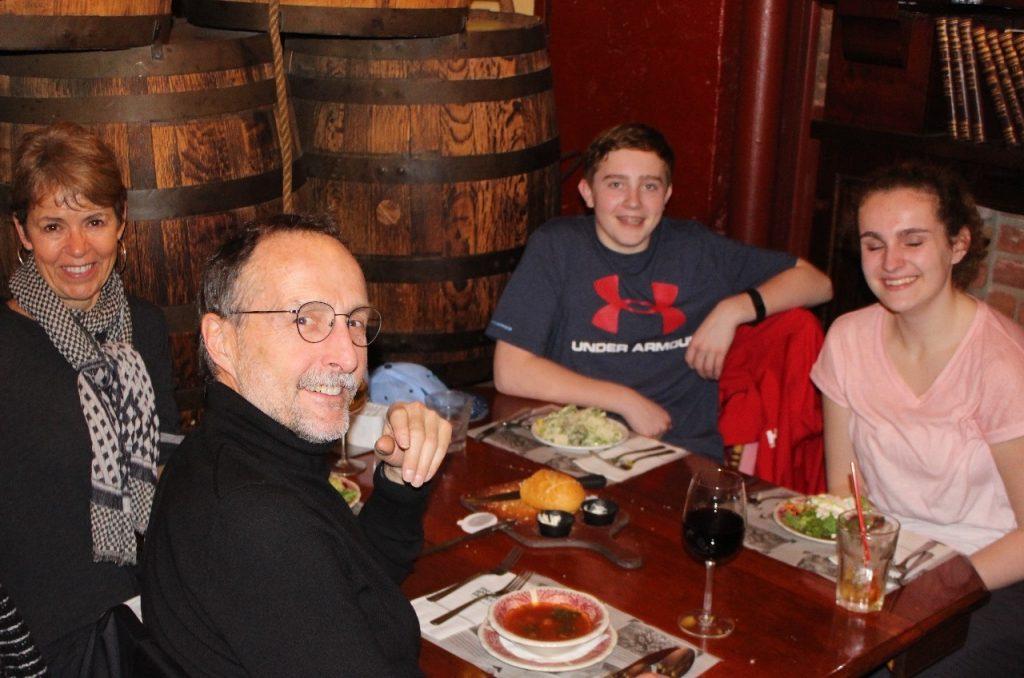 Spaghetti dinner in Gastown