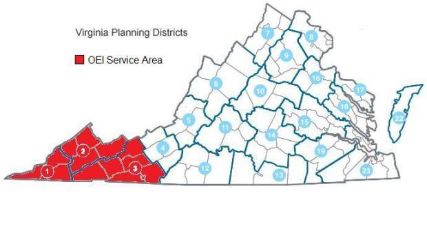 OEI Service Area Map