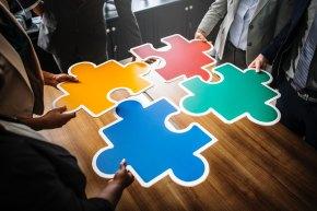 Giant puzzle pieces