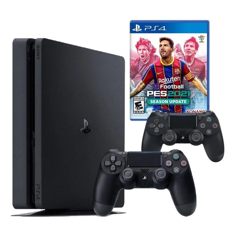Daftar harga video game/playstation sony playstation 4 slim baru dan bekas/second termurah di indonesia. Consola PlayStation 4 Slim 1TB + Mando + PES 2021 - Oechsle
