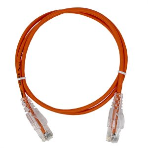 CAT 6 Slim Patch Cable, UTP Stranded, Non-booted, Orange