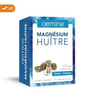Oemine Magnésium huître pour compléter l'apport en magnésium. les personnes en periode de fatigue