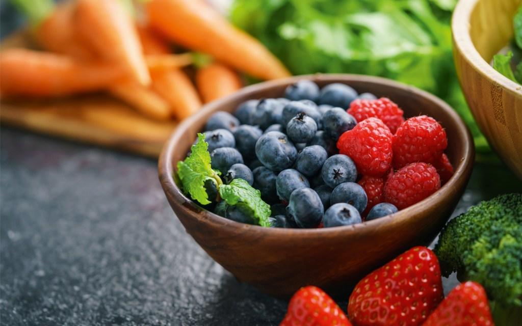 Photos de fruits et légumes, antioxydants naturels