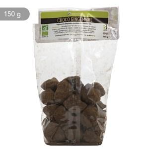 Oemine CHOCO GINGEMBRE, pépites de gingembre enrobées de chocolat bio