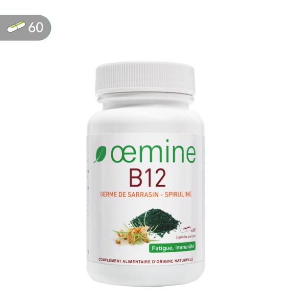 Oemine B12 permet un apport de vitamine B12 à la dose quotidienne recommandée