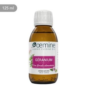 Hydrolat de Geranium certifié biologique. Sans conservateur.