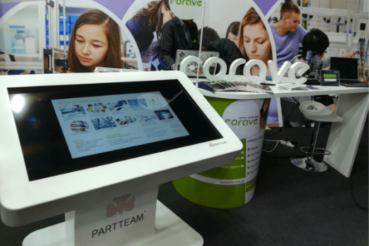 Interactive table for the largest Education and Training Fair in Portugal