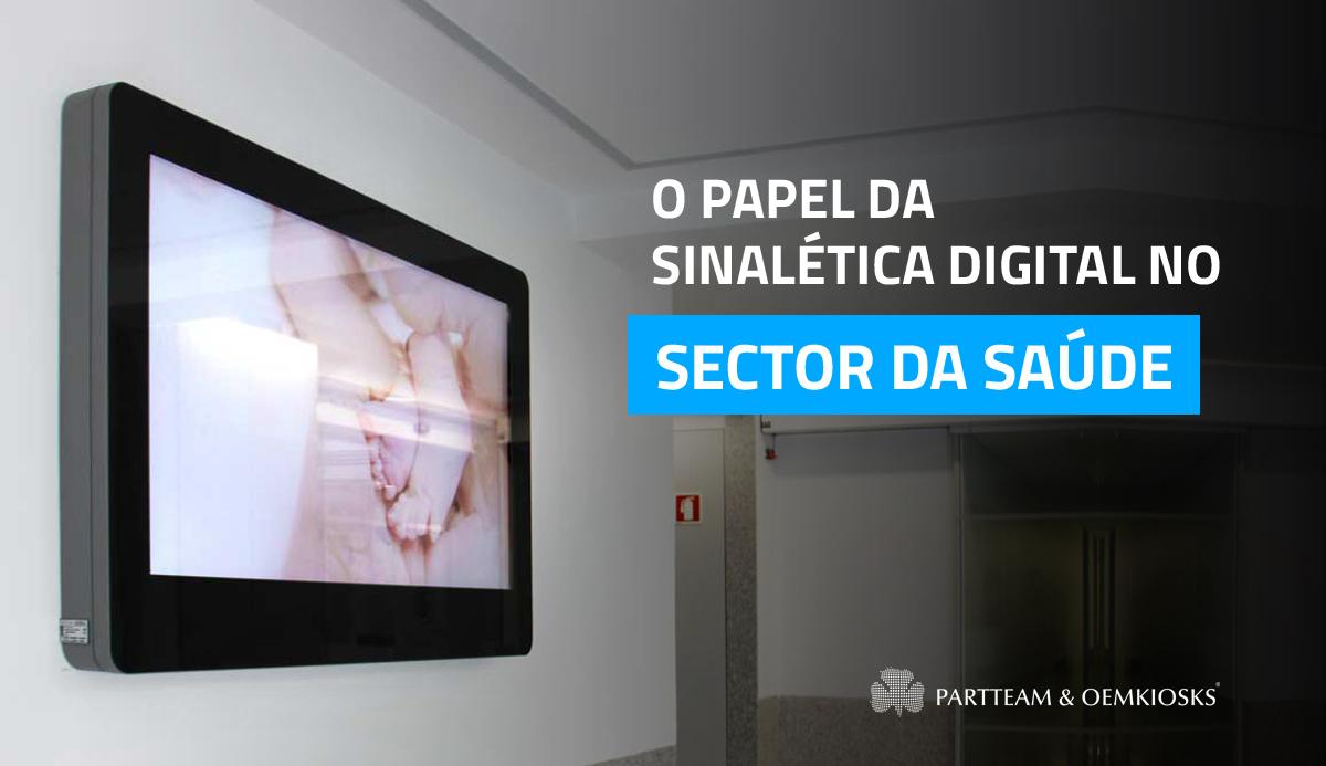 Como a sinalética digital pode beneficiar o sector da saúde
