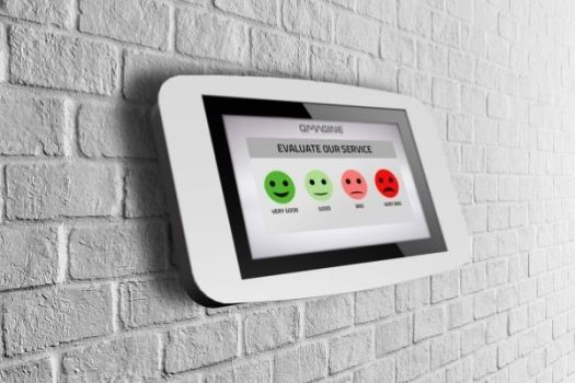 With the tablet Evaluation System, customers can evaluate the service provided anytime, anywhere