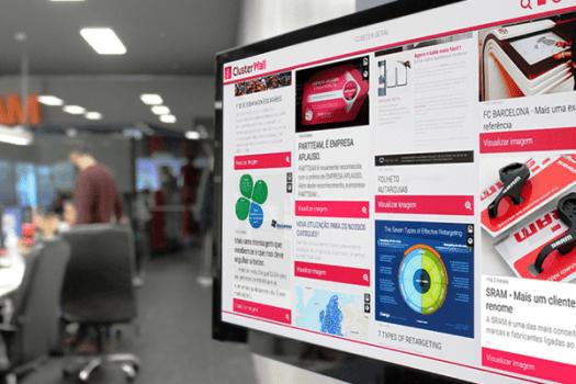 O ClusterWall permite a criação, gestão e optimização de conteúdos à medida