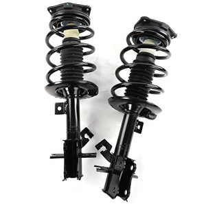 MILLION PARTS Front Driver & Passenger Side Complete Strut Shock Coil Spring Assembly for 2007 2008 2009 2010 2011 2012 Nissan Sentra 2.0L L4 GAS DOHC