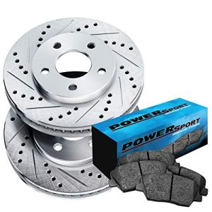Front Cross-Drilled Slotted Brake Rotors Disc and Ceramic Pads Armada,Titan