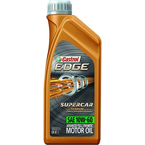 Castrol 12064 EDGE SUPERCAR 10W-60 Advanced Full Synthetic Motor Oil, 1 L, 12 pack