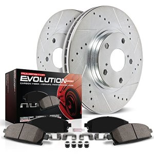Power Stop K2445 Rear Z23 Evolution Brake Kit with Drilled/Slotted Rotors and Ceramic Brake Pads