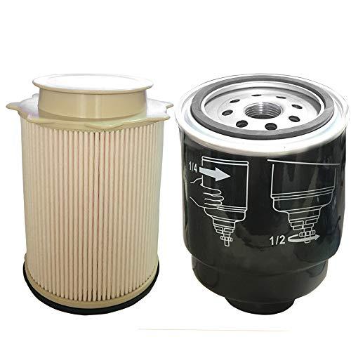 Auto Safety 6.7L Cummins Fuel Filter Water Separator Set Compatible With 2013-2017 Dodge Ram 2500 3500 4500 5500 Diesel Trucks
