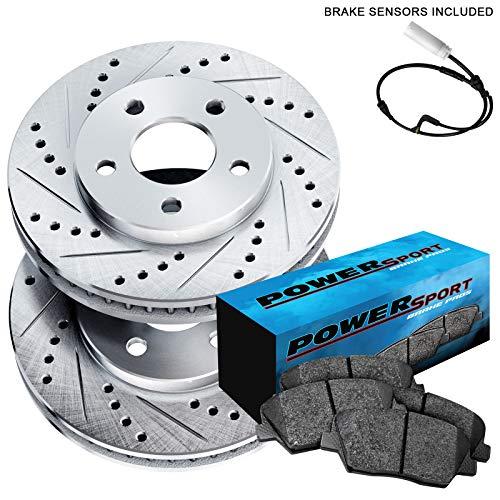 Fit BMW 545i, 645Ci, 550i, 650i, 535i Rear Drill Slot Brake Rotors+Ceramic Pads