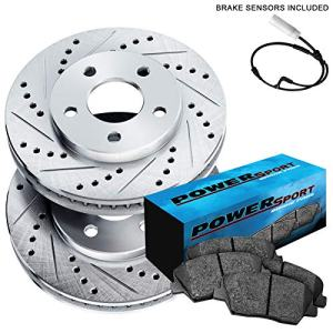 Fit BMW 545i, 645Ci, 550i, 650i, 535i Rear Drill Slot Brake Rotors+Ceramic Pads
