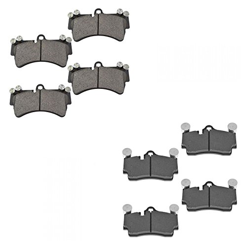 Brake Pads Front & Rear Semi-Metallic Set for Audi Q7 VW Touareg Porsche Cayenne