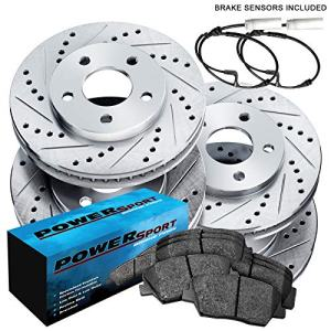 Fit 2011-2017 BMW X5, X6 Front Rear PSport Drill Slot Brake Rotors+Ceramic Pads