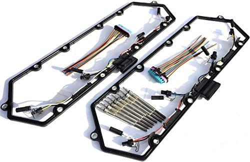 97-03 Ford Powerstroke 7.3l Diesel Glow Plug Set Gaskets Harnesses + 8 Plugs 7.3