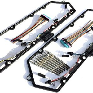 97-03 Ford Powerstroke 7.3l Diesel Glow Plug Set Gaskets Harnesses + 8 Plugs 7.3