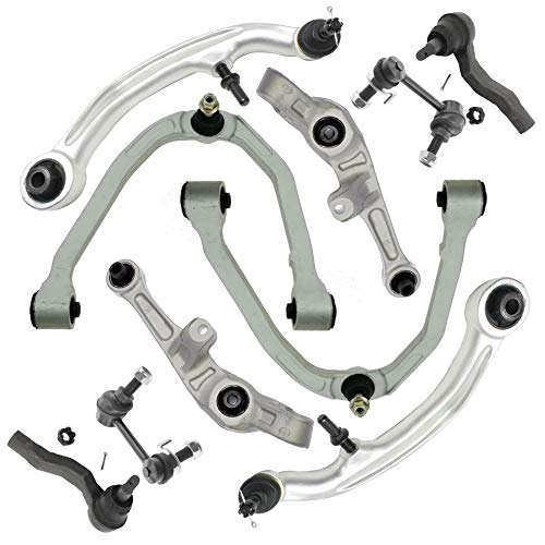 Detroit Axle - 10pc Front Upper Control Arms, Lower Forward