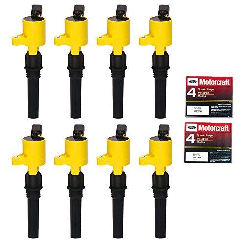8 Ignition Coil DG508 & 8 Motorcraft Spark Plug SP479